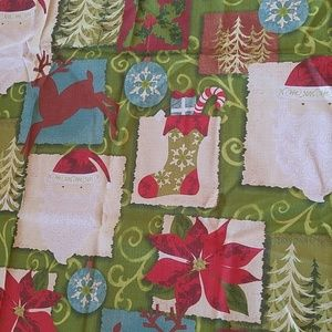 NWT Fabric Christmas/Holiday Tablecloth